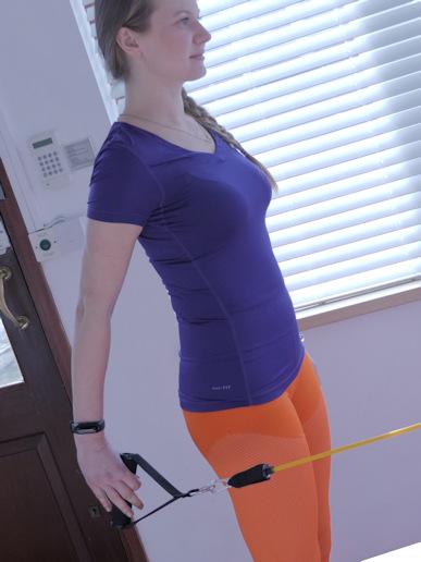 Exercise using theraband
